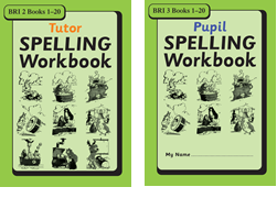 BRI Set 3Tutor and Pupil SPELLING Workbooks