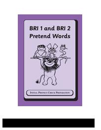 BRI 1 and BRI 2 Pretend Words