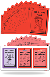 BRI Set 2 Plus: Including BRI 1 and BRI 2 Pretend Words, Tutor & Pupil SPELLING Workbooks