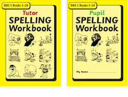 BRI Set 1Tutor and Pupil SPELLING Workbooks