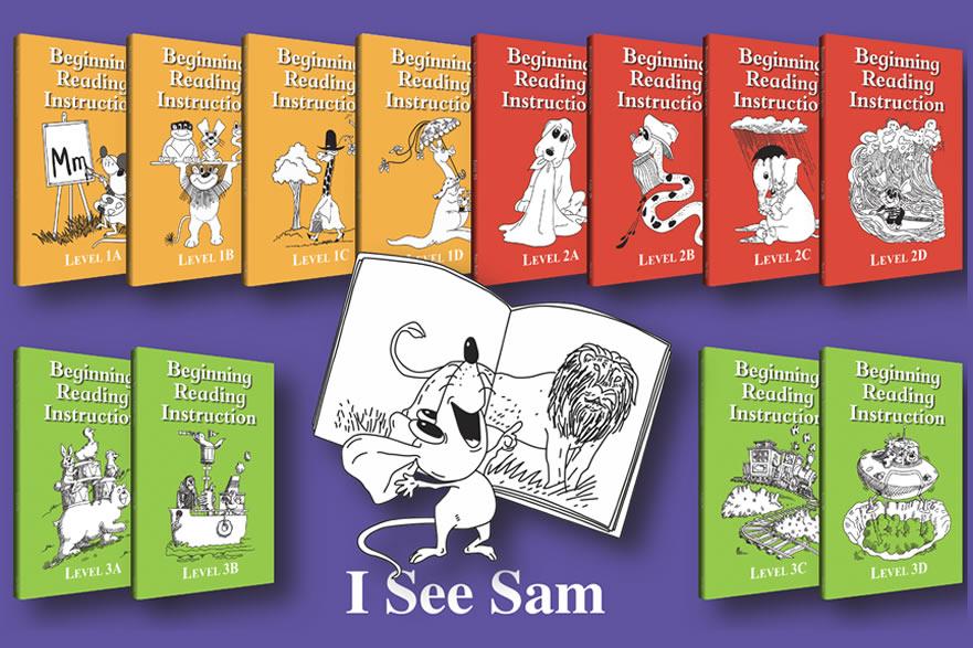 I see sam reading tuition books for children